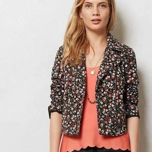 Hei Hei Cropped Tinsley Floral Bomber Jacket sz 8